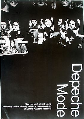 Depeche Mode Everything Counts Rose Bowl Live 1988 Vintage Music Promo Poster