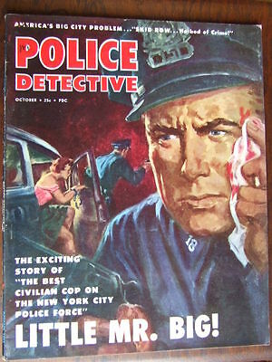 """Police Detective"": 1953 Oct.  Cover Art. Sensational True Crime."