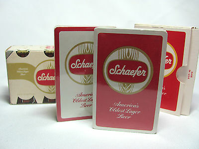 2 Decks Unused Schaefer Playing Cards in Original Box