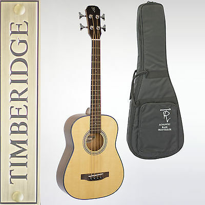 Timberidge Tr-Tb-Nst Acoustic-Electric Traveller Mini Bass Guitar With Gig Bag