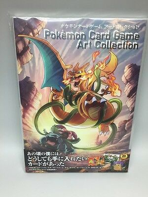 Pokemon Card Game Art collection Art Book with Original card Charizard, Glurak