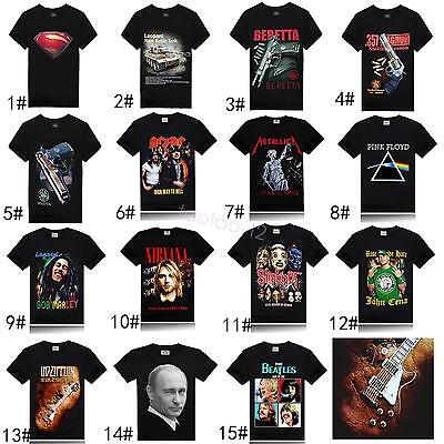 Rock Funny 3D T-shirt Print Fashion New Casual Mens Short Sleeve Tee TOP TBA110