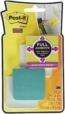 "Post-it Super Sticky Full Adhesive Notes 2""x2""; 8 pads/pack"
