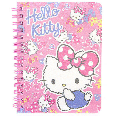 Sanrio Hello Kitty Laser Cover Mini Spiral Notebook 9-6398-13 KT Free Reg Ship