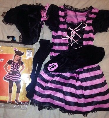 Halloween Sweetheart Pirate Child's Large 12 - 14 Youth Costume Euc