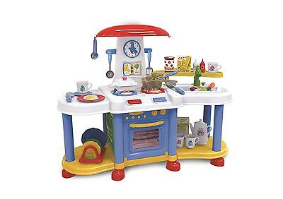 Vinsani Blue Little Kitchen Food Cooking Gas Oven Appliances Toy Pretend Playset