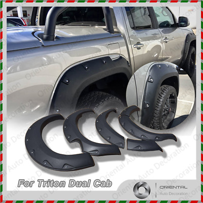 NEW Fender Flares Wheel Guard Arch Flares for Mitsubishi Triton Dual Cab 15-17
