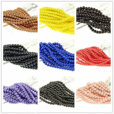100X Mixed Color Glass Bead Round Loose Spacer Beads Jewelry Finding 6mm