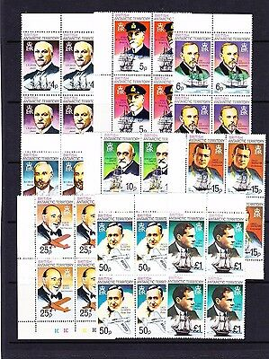BRITISH ANTARCTIC TERRITORY 1975-81 COMPLETE SET IN BLOCKS SG 64-78a MNH.