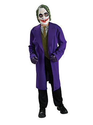 Child Ages 8-10 Years Licensed Dark Kinght The Joker Party Fancy Dress Costume