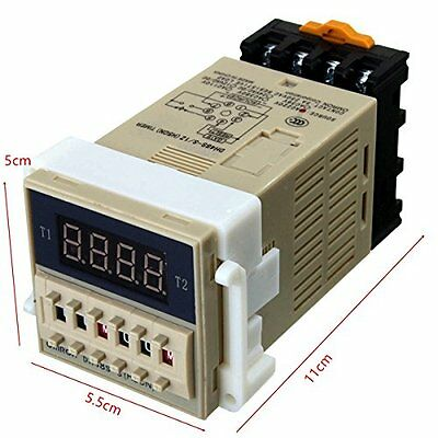 1PCS DH48S-S AC 220V repeat cycle SPDT time relay with socket DH48S series 220V