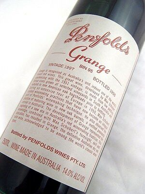 1997 PENFOLDS Bin 95 GRANGE Shiraz Unique Laser Code EY200 Isle of Wine