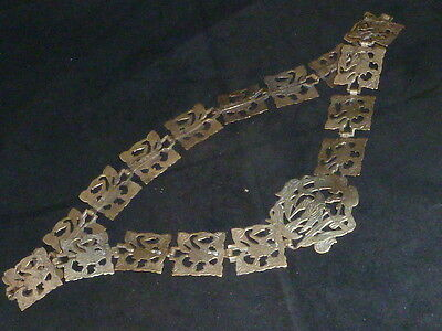 Superb and Rare Antique Victorian Art Nouveau Silver Plated Chatelaine Belt