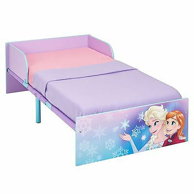 Disney Frozen Toddler Bed With Protective Side Guards And 3 Mattress Options New