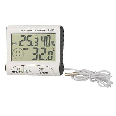 DC103 Digital LCD Portable Indoor Outdoor Thermometer Hygrometer SP
