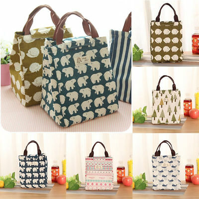 Portable Tote Thermal Insulated Lunch Box Bag Cooler Picnic Pouch Bento Case