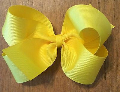 """LOT OF 8 Girl's 5 Inch HAIRBOWS Hair Bows  - Choose Your Colors -- 5"""" Hair Bows"""