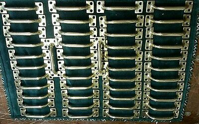 BIG SET OF 46 MATCHING solid brass VINTAGE  drawer pulls,handles,sash lifts