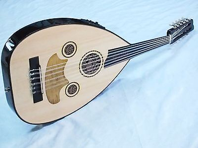 Mare ::  Turkish  Quality Half Cut Electro Acoustic  Oud Ud  New !!!!!!!!!!