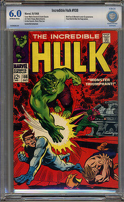Incredible Hulk #108 CBCS 6.0 FN Universal CBCS #16-17B436-070
