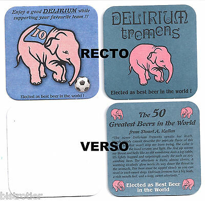 4x Sous Bock Beer Coaster Bier Deckel DELIRIUM TREMENS #5  Enjoy FootbalL
