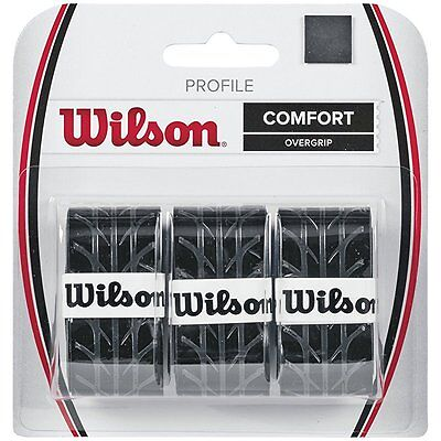 Wilson Profile Comfort Tennis Racket Overgrip 3 Pack Handle Tape Grips
