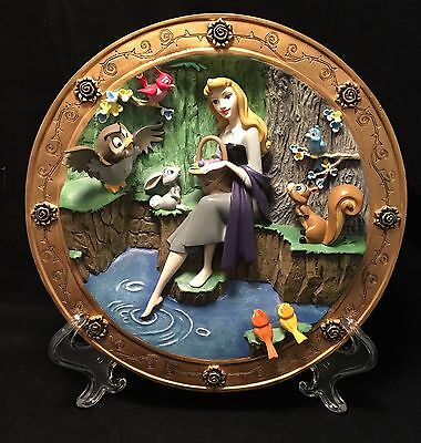 Disney Sleeping Beauty Once Upon a Dream 3-D Hand-Sculpted Cold Cast Plate