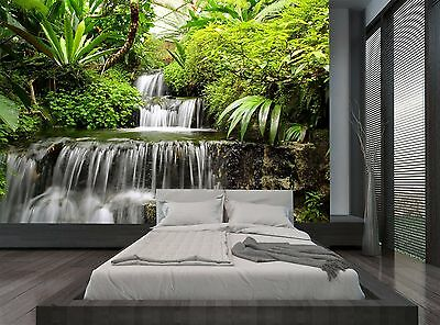 Rain Forest Jungle Trees Waterfall Wall Mural Photo Wallpaper GIANT WALL DECOR