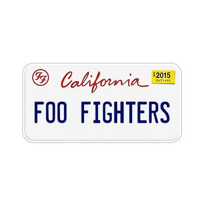 FOO FIGHTERS California LICENSE PLATE 2015 TOUR DAVE GROHL Limited EDITION WoW