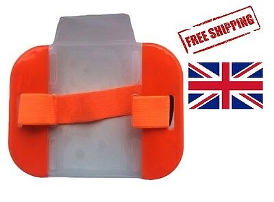 Orange Sia Waterproof Security Id Armband Badge Holder Doorman Bouncer