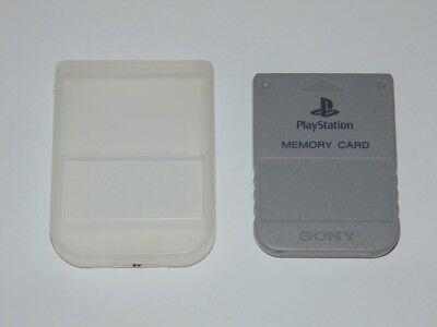 Playstation 1 Memory Card original Sony color Gris PS1 PSONE