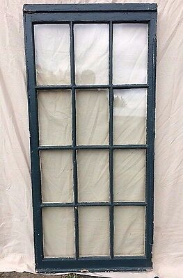 Antique 12 Lite Casement Window Sash Vintage Old 1828-16