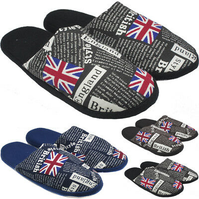 Fashion MENS WARM SLIPPER MULES SLIP ON WINTER SLIPPERS SHOES SIZE UK 8 9 10 11