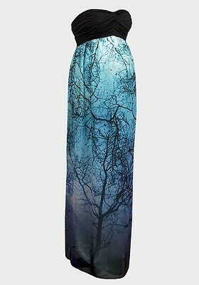 Stunning Designer Gothic Ombre Evening Maternity Party Maxi Dress UK 8-16 RP£120