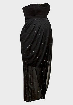 Rock a Bye Rosie Stunning Stud Evening Maternity Party Maxi Dress UK10-18 RP£120