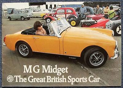 MG MIDGET Sports Car Sales Brochure c1973 # 2864/C