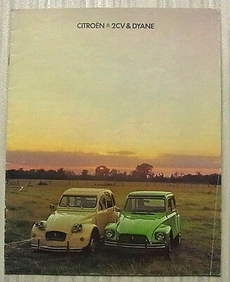 CITROEN 2CV & DYANE Car Sales Brochure For 1978