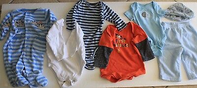 Lot of 7 Pcs Baby-boy -0-3 M-Fall-Winter-Clothes.