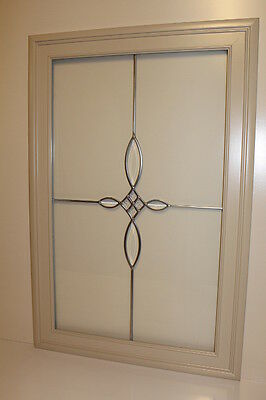 "Kraftmaid Kitchen Mushroom Maple Glass Doors For 24x36"" Wall Cabinet"