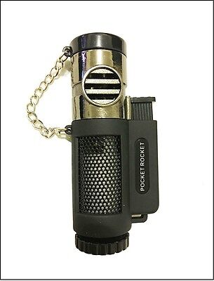 Windproof Triple Jet Flame Butane Gas Torch Cigarette Cigar Lighter Refillable