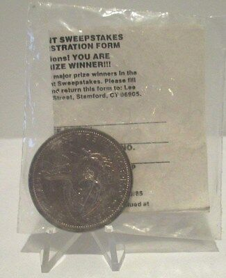 Engelhard 1 Oz 1985 Ken-L Ration Treasure Hunt Still Sealed w/Sweepstakes Form