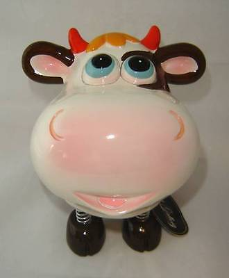 Brown Cow Animated Character Money Bank