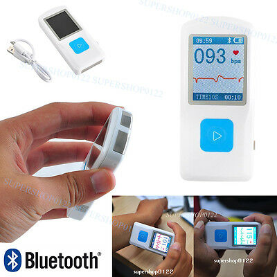 Contec Handheld Portable color LCD ECG HR Machine,USB PM10 Bluetooth FDA Proved
