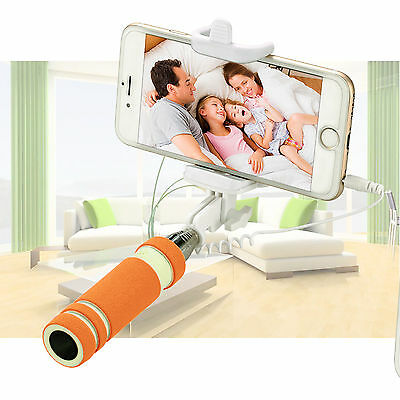 Extendable Monopod Self-pole Handheld Wired Selfie Stick For iPhone For Samsung