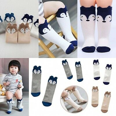 Cute Baby Toddler Girl Boy Soft Leggings Warmer Leg Warmers Knee Long Socks Gift