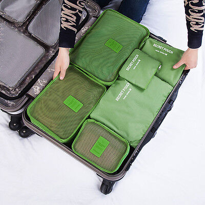 6 Pcs/Set Travel Luggage Storage Bag Clothes Storage Organizer Pouch Case GT