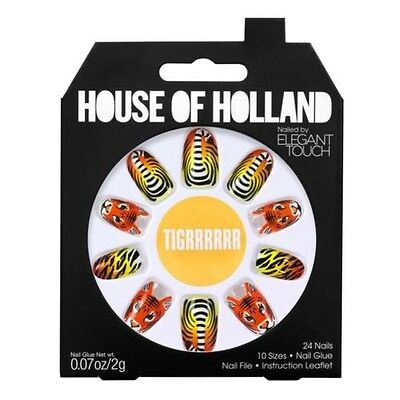 House of Holland faux ongles - tigrrrrrr Tigre ongles (24 ongles)