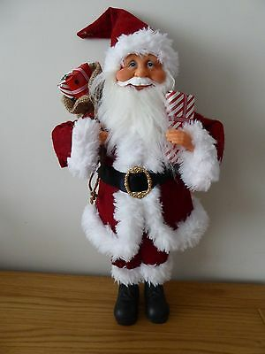 SALE 50cm Father Christmas Soft Toy Ornament Traditional Luxury Xmas Decoration