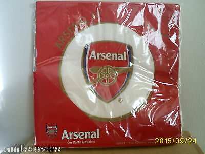 Arsenal Football Club Party Napkins x 20 - Official Merchandise