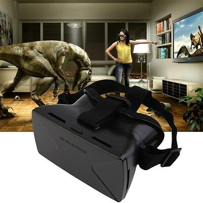 Virtual Reality VR 3D HD For Google Cardboard Glasses Movie Game Head Mount #A